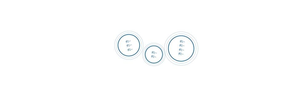 バブル形状のパワポーのパーツ