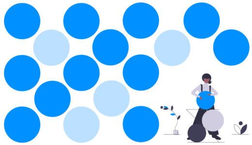 点や水玉模様を使ったドットのデザイン