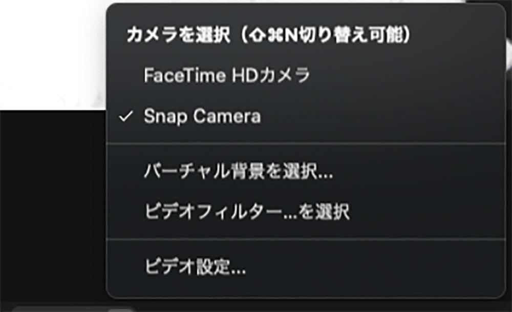Snap Cameraの選択画面