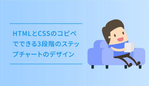HTMLとCSSのコピペでできる3段階のステップチャートのデザイン
