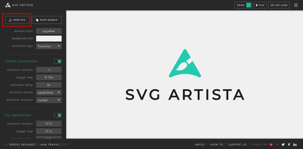 OPEN SVGの場所